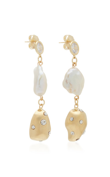 Mounser Evolution Gold-Plated And Multi-Stone Earrings