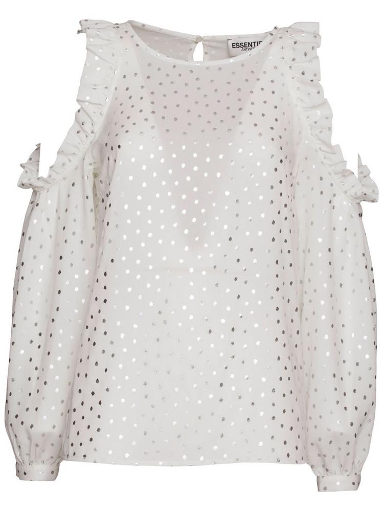 Essentiel Antwerp Open Shoulders Blouse in bianco