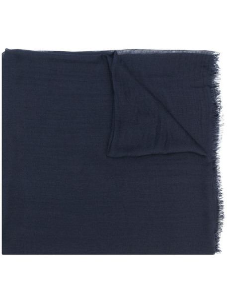Faliero Sarti frayed-hem scarf in blue