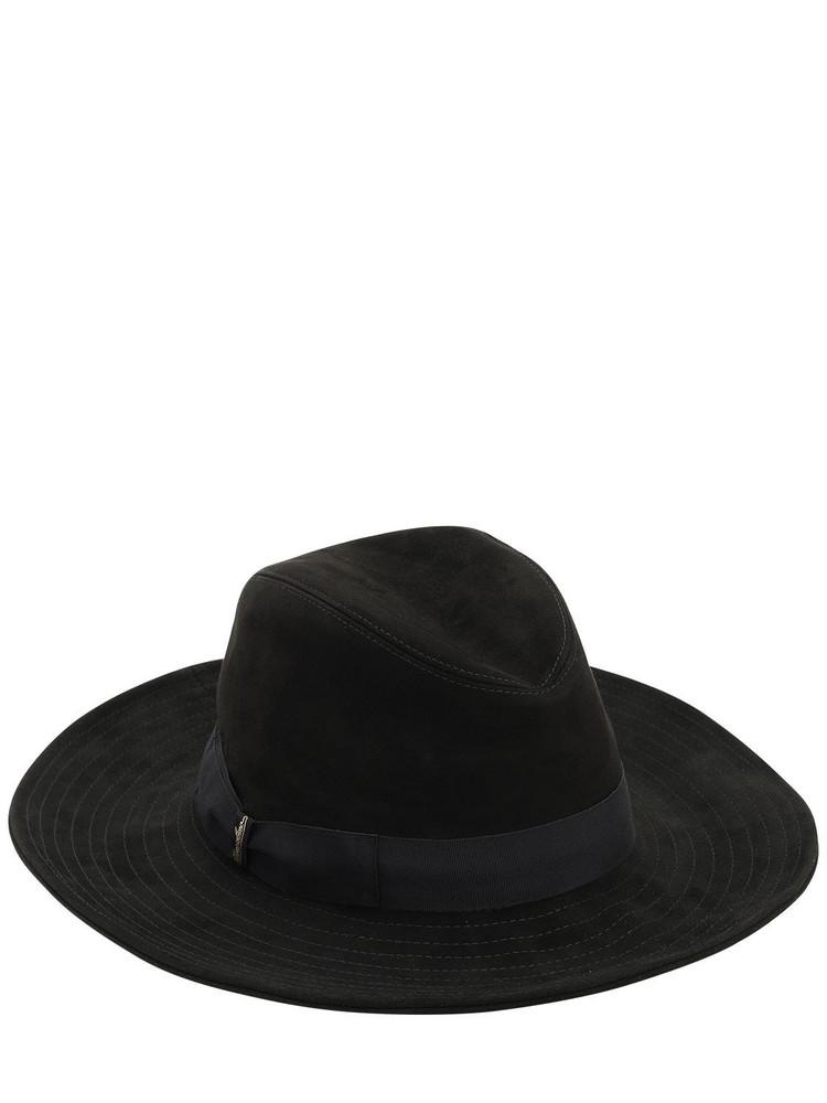 BORSALINO Suede Hat in grey