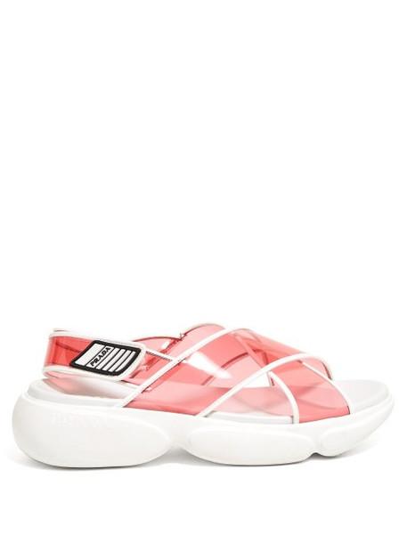 Prada - Cloudbust Pvc Sandals - Womens - Pink Multi
