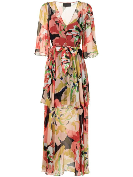 Ginger & Smart Delirium floral maxi dress in red