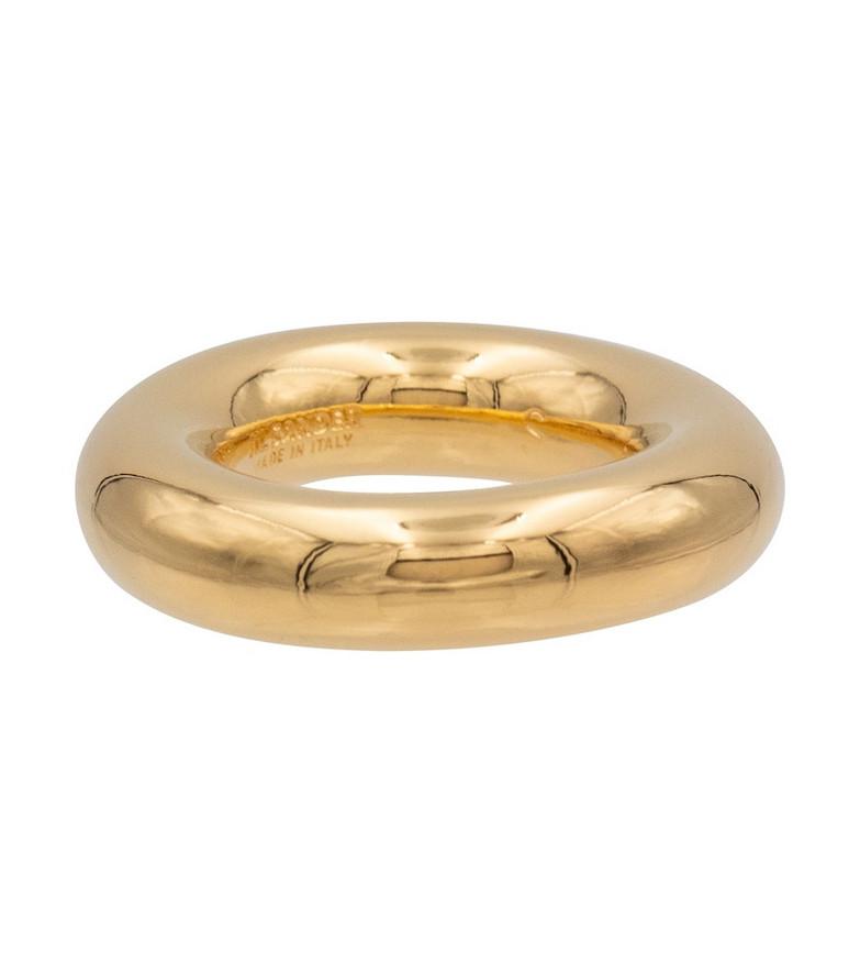 Jil Sander Sterling silver ring in gold