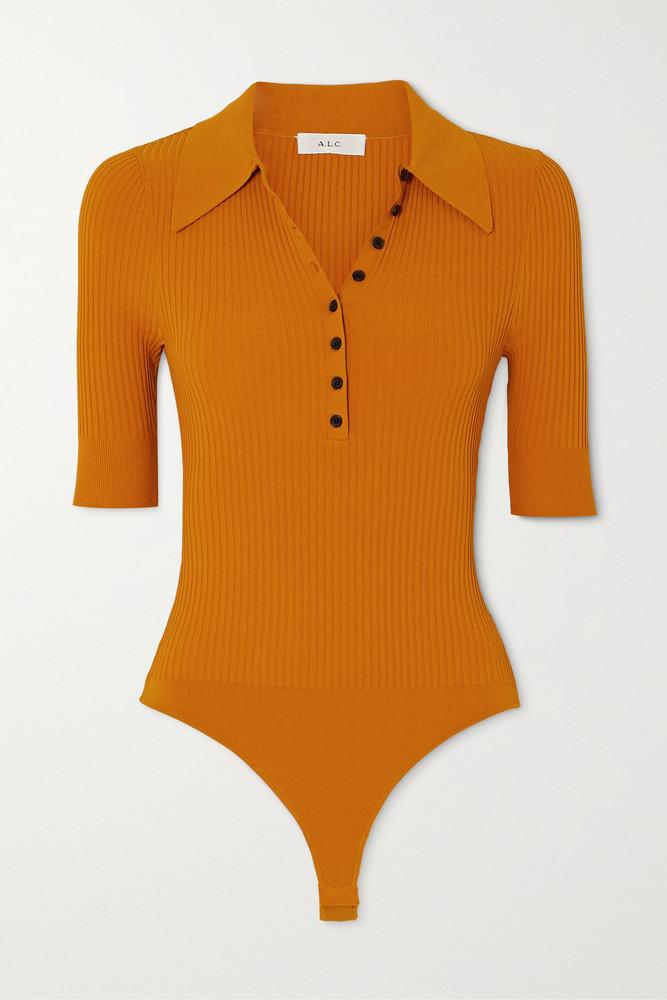 A.L.C. A.L.C. - A.l.c. X Petra Flannery Dia Stretch-knit Bodysuit - Yellow
