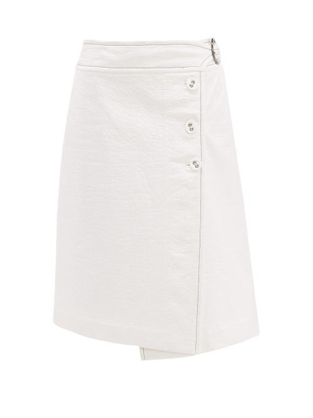 Marni - Coated Tweed Wrap Skirt - Womens - White