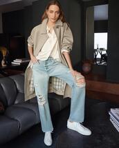 coat,top,jeans,shoes