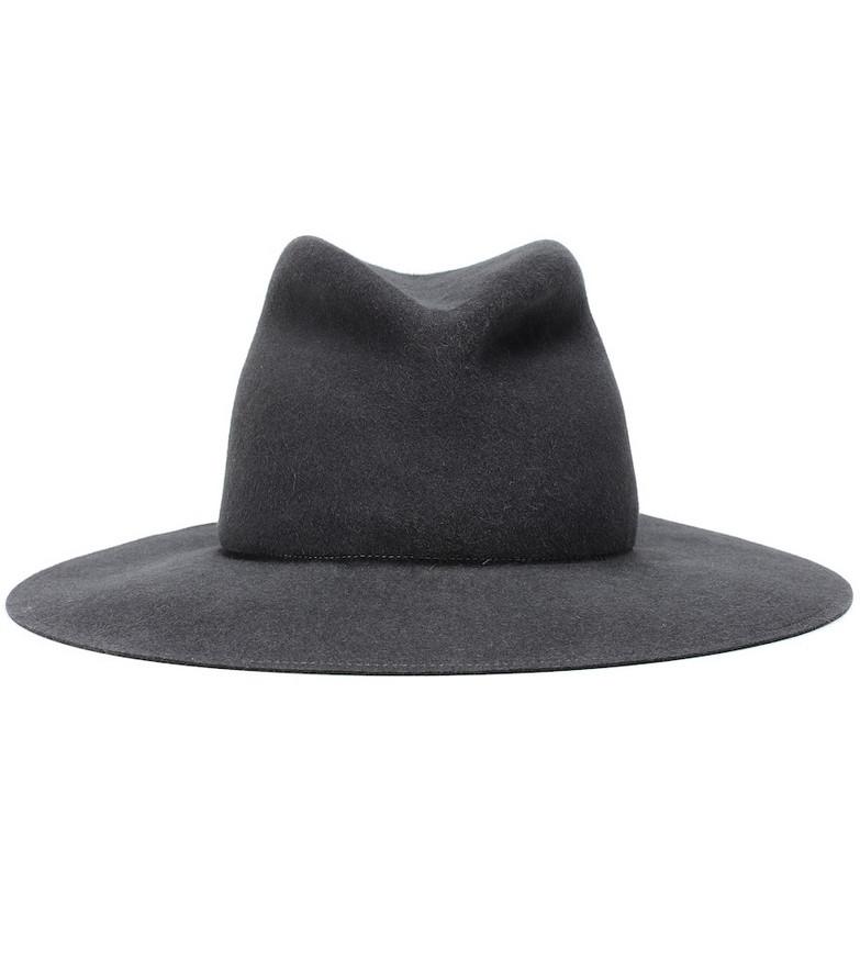 Lola Hats Snap Saddled Up Redux felt hat in grey