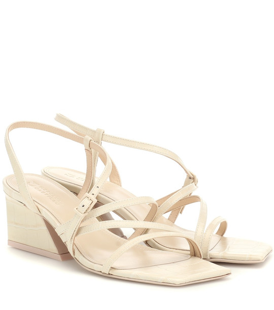 Mercedes Castillo Kelise leather sandals in beige