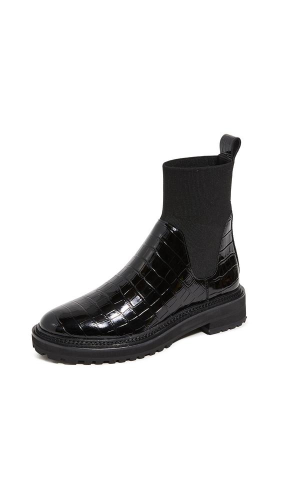 Loeffler Randall Bridget Chelsea Combat Boots in black