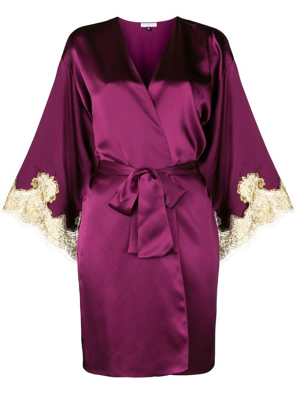 Gilda & Pearl Gina short kimono in pink