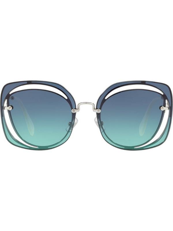 Miu Miu Eyewear cat eye sunglasses in blue
