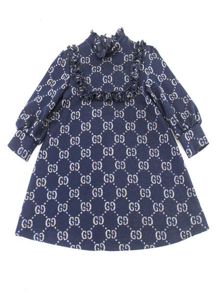 Gucci Childrens Gg Lamé Dress