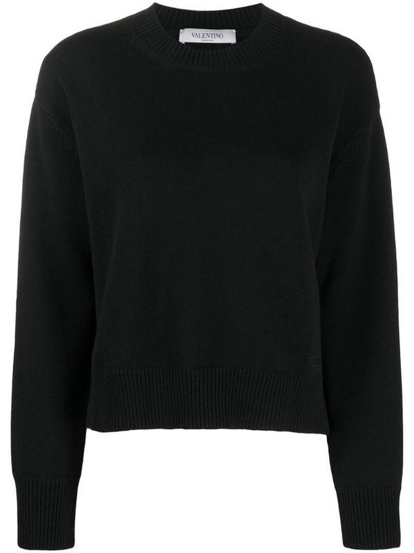 Valentino crew-neck cashmere jumper in black