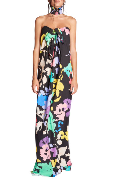 Caroline Constas Kaia Multicolor Cotton Gown in multi