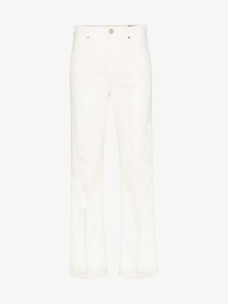 GOLDSIGN high-rise straight-leg jeans in white