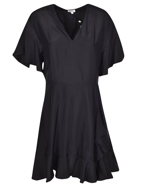 Kenzo Ruffle Trim Dress in black