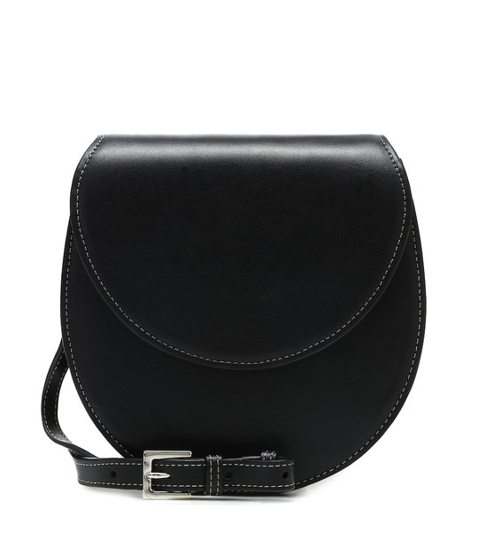 Hunting Season The Saddle leather crossbody bag in black