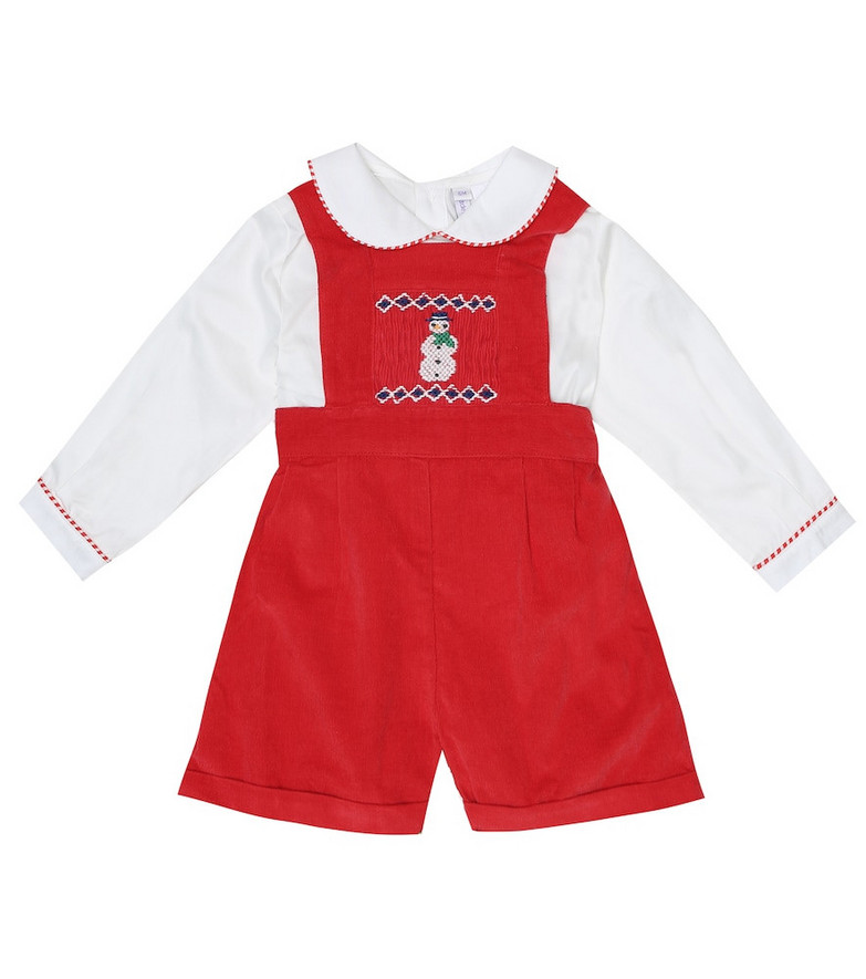Rachel Riley Baby cotton playsuit in red
