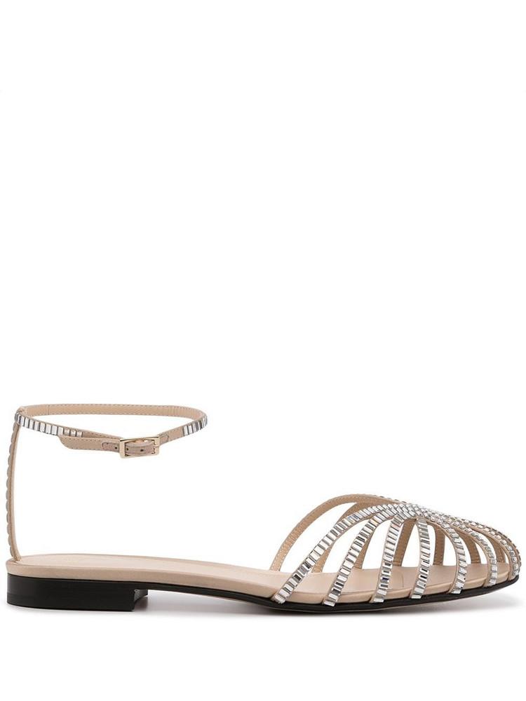 Alevì Alevì Rebecca Beauty satin sandals - Silver