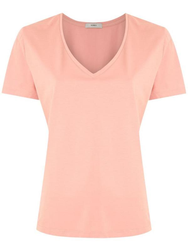 Egrey V-neck T-shirt in pink