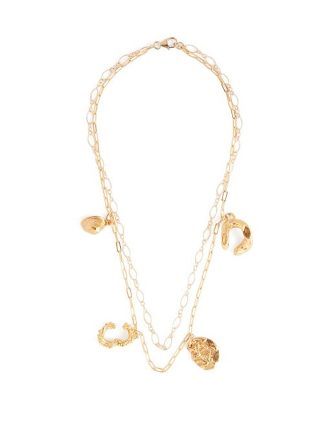 Alighieri - Multi Charm 24kt Gold Plated Necklace - Womens - Gold