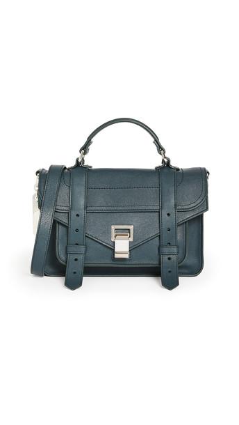 Proenza Schouler PS1 Tiny Bag in petrol / green