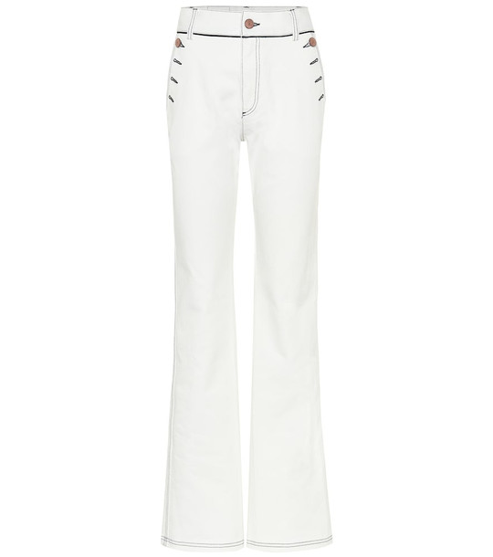 See By Chloé High-rise flared jeans in white