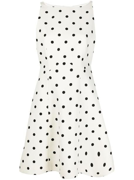Valentino polka dot skater-style dress in white