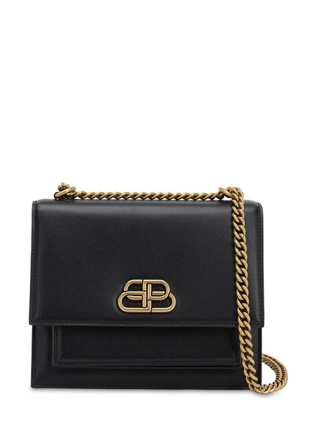 BALENCIAGA S Sharp Leather Shoulder Bag in black