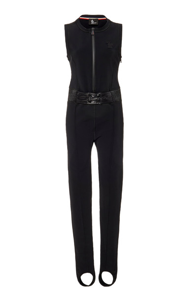 Moncler Grenoble Stretch-Twill Stirrup Ski Jumpsuit in black