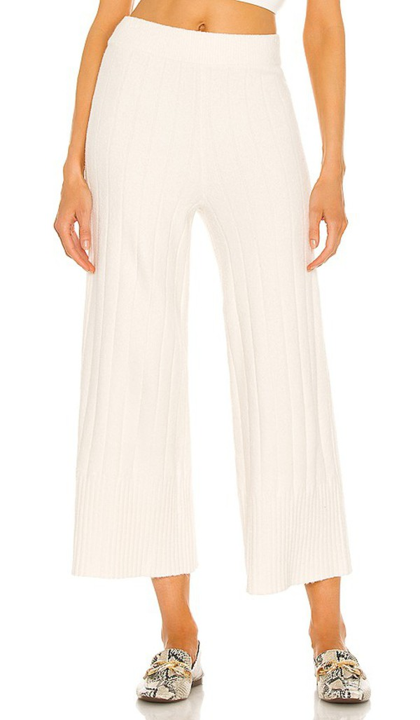Weekend Stories Gigi Lounge Pant in Ivory in white