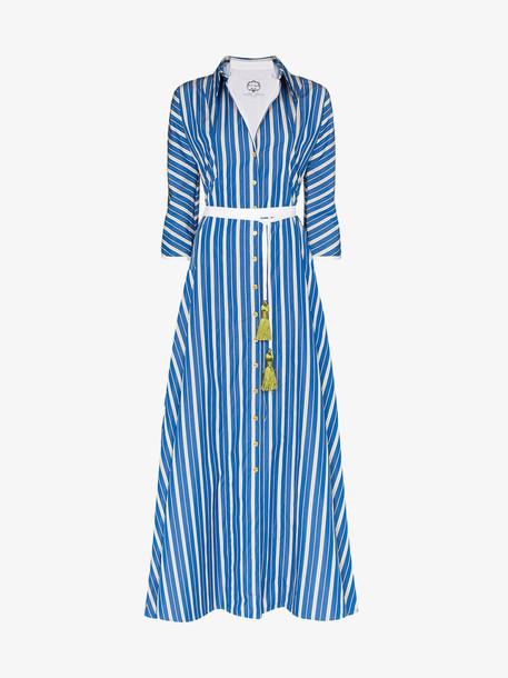 Evi Grintela Ben Youssef striped shirt dress in blue