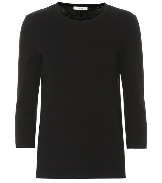 The Row Miva stretch-cotton top in black