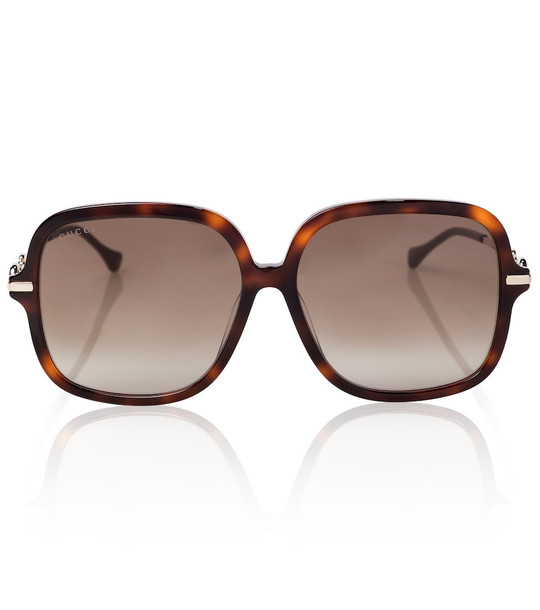 Gucci Oversized round sunglasses in brown