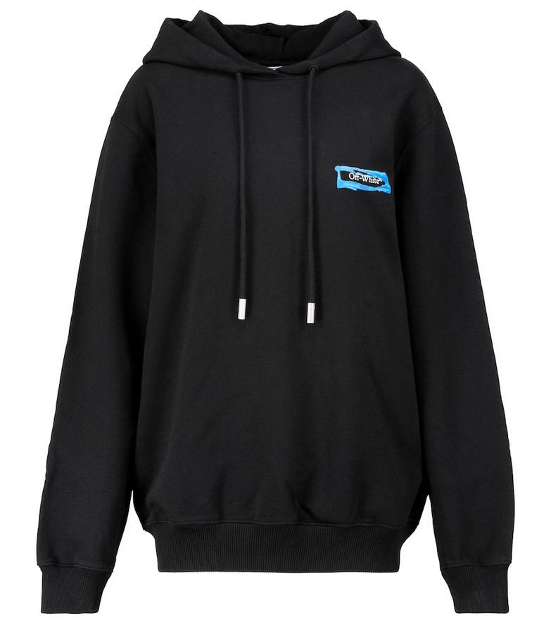 Off-White Logo cotton hoodie in black