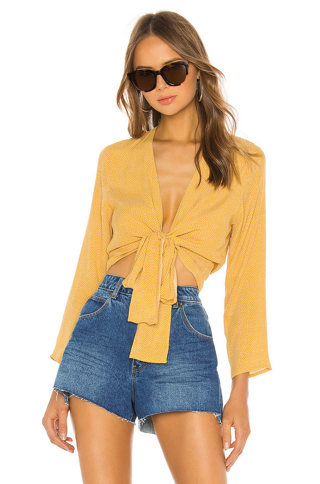 ROLLA'S Delilah Wrap Blouse in yellow