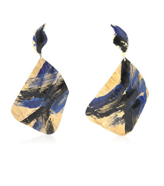 Peet Dullaert x Joshua Osborn Ciel 14kt gold plated earrings