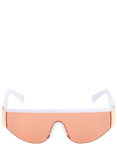 LE SPECS Viper Mask Sunglasses in orange / white