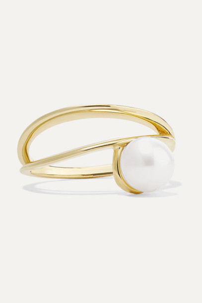 Natasha Schweitzer - 9-karat Gold Pearl Ring