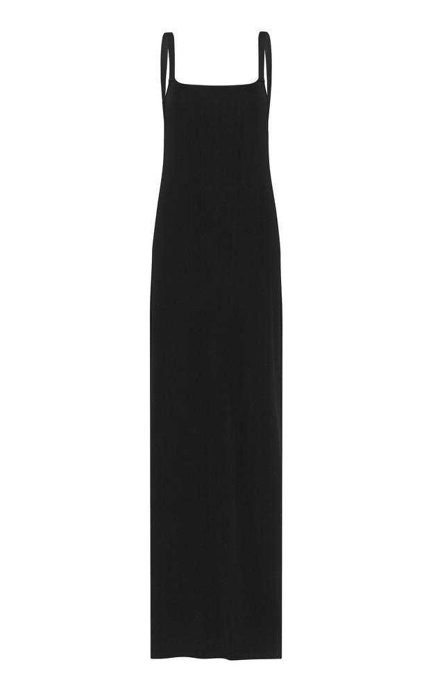 Matteau Sleeveless Open Back Knit Dress Size: 1 in black