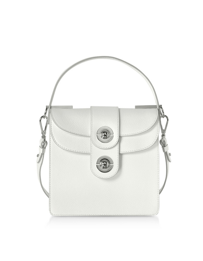 Coccinelle Leila Leather Shoulder Bag in white