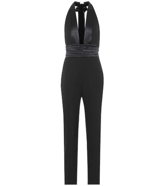 Dundas Wool-blend jumpsuit in black