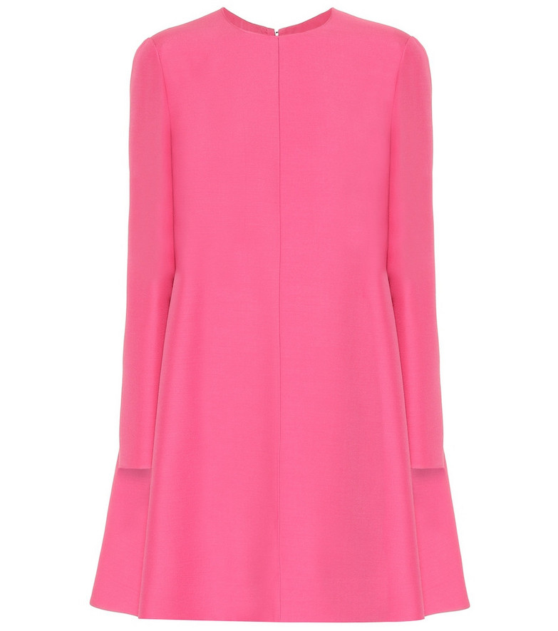 Valentino Wool and silk dress in pink