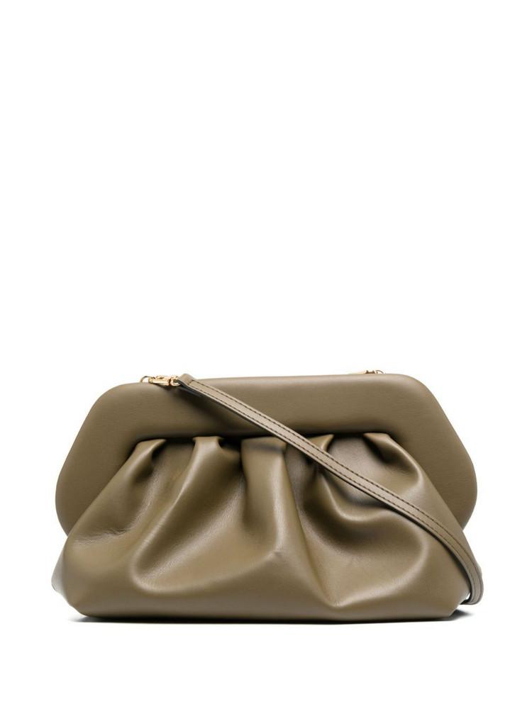 Themoirè Themoirè gathered leather clutch bag - Green
