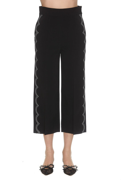 Red Valentino Embroidered Pants in black