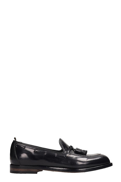 Officine Creative Black Leather Ivy Loafer