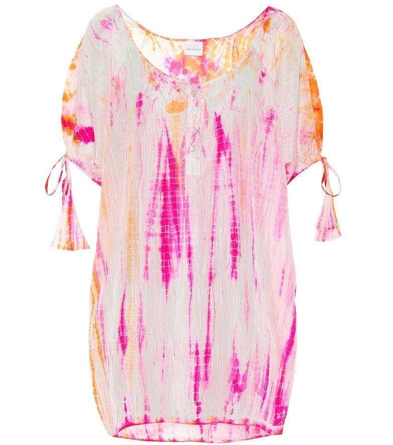 Anna Kosturova Exclusive to Mytheresa – Tie-dye silk minidress in pink