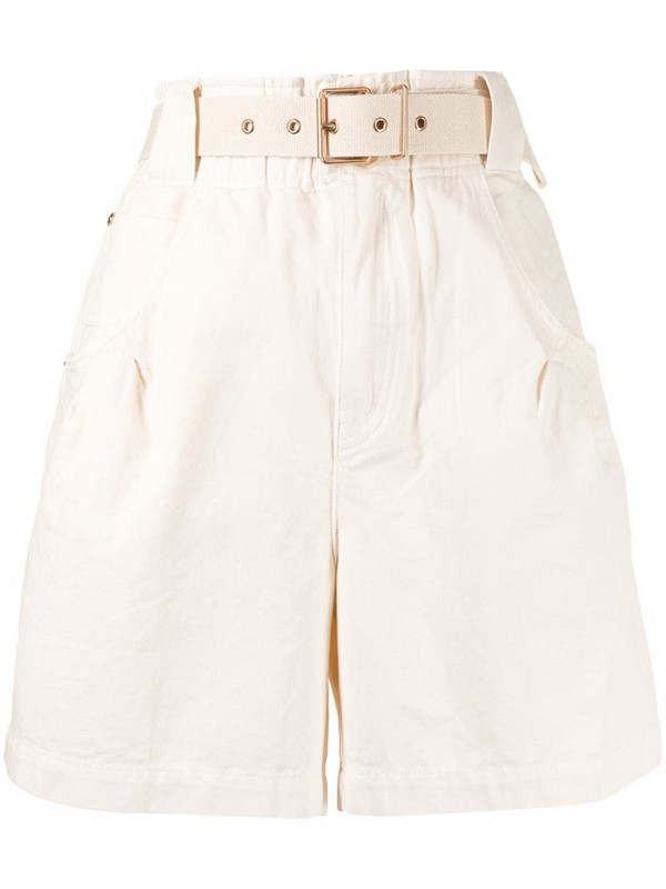 Alice McCall Bronte belted shorts in white