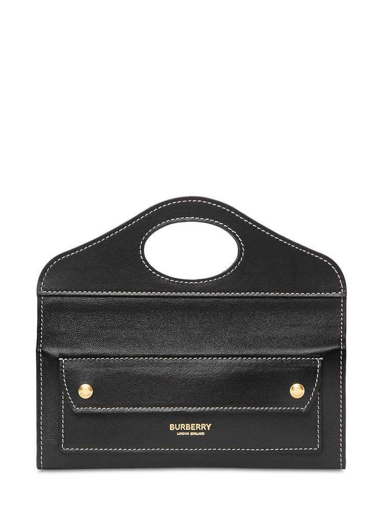 BURBERRY Mini Pocket Leather Bag in black