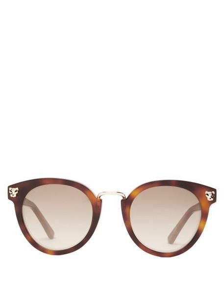 Cartier Eyewear - Panthére Tortoiseshell Acetate Sunglasses - Womens - Tortoiseshell